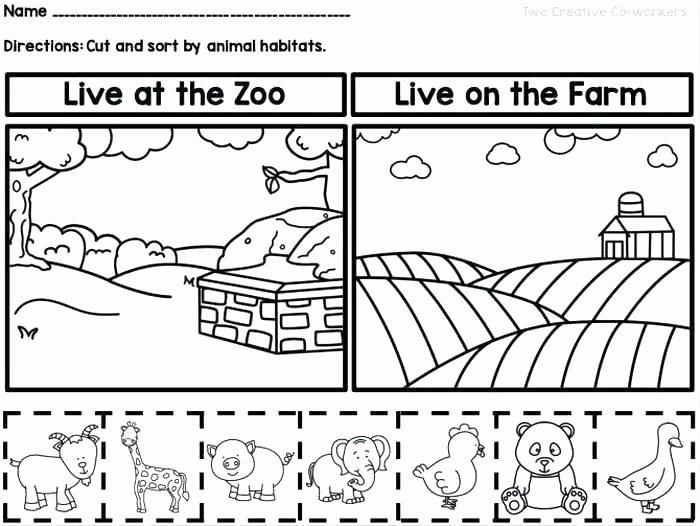 2nd Grade Habitat Worksheets Luxury Animals In their Habitats Worksheets