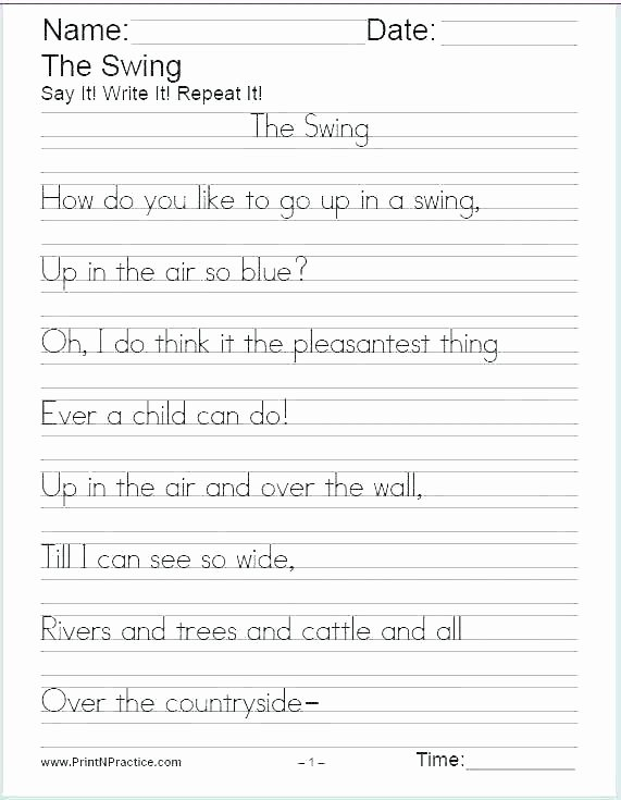 2nd Grade Handwriting Worksheets Pdf English Cursive Handwriting Worksheets Alphabets In Writing