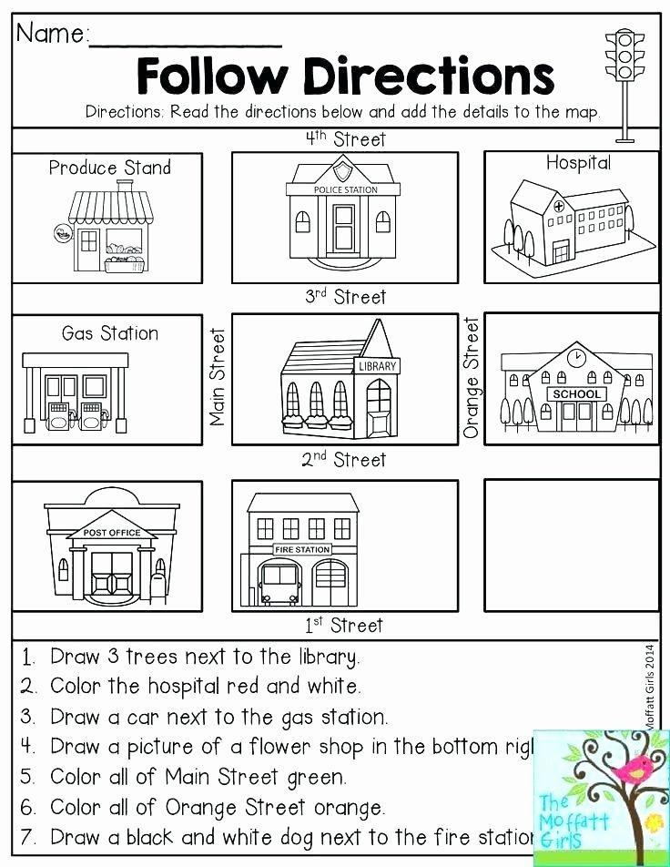 2nd Grade Map Skills Worksheets Best Of Prehension Worksheets for 1st Grade – Primalvape