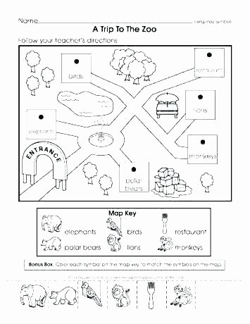 2nd Grade Map Skills Worksheets New Printable Map Worksheets