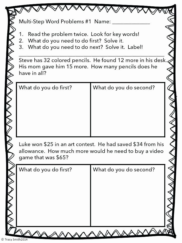 2nd Grade Math Challenge Worksheets First Grade Math Problem solving Worksheets