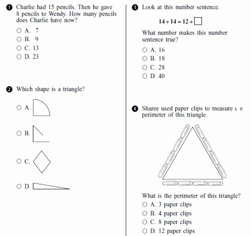 2nd Grade Math Worksheets Measurement Learning 2nd Grade Math Awesome Free Second Grade Math Test