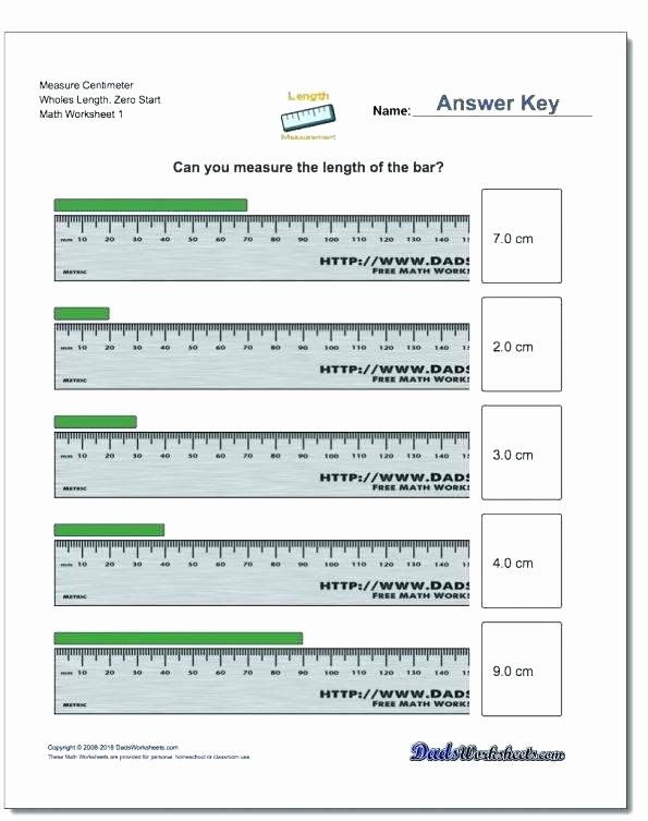 2nd Grade Math Worksheets Measurement Measurement Math Worksheets Grade Measure Centimeters
