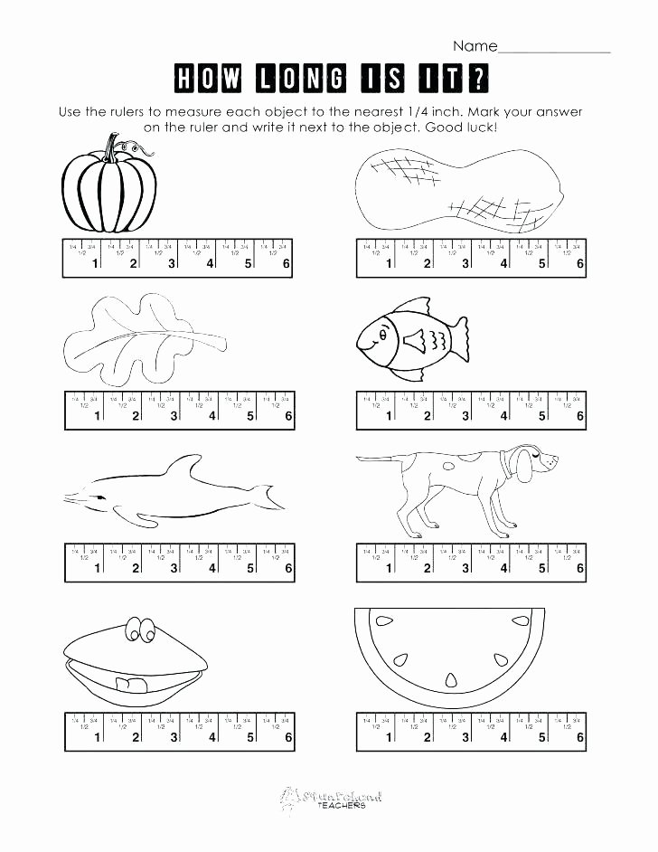 2nd Grade Measurement Worksheets Measuring Inches and Centimeters Worksheets