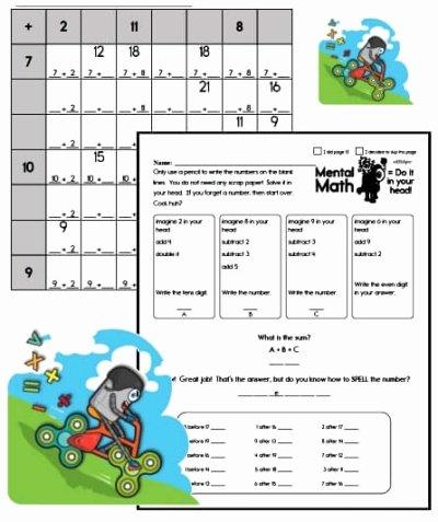 2nd Grade Minute Math Worksheets Free Kindergarten Pdf Worksheets