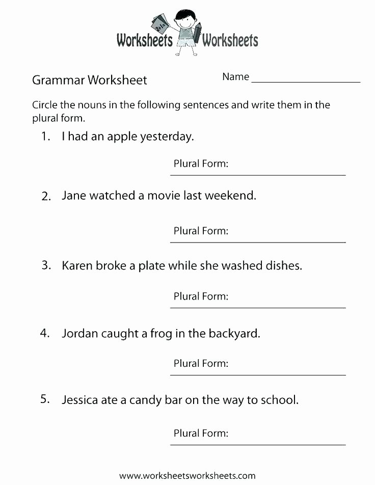 2nd Grade Noun Worksheets 5th Grade Grammar Worksheets