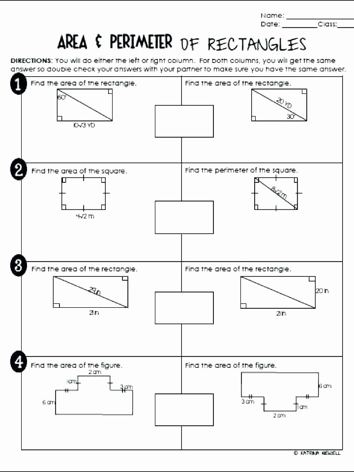 2nd Grade Perimeter Worksheets area Easy area and Perimeter Worksheets Rectangle