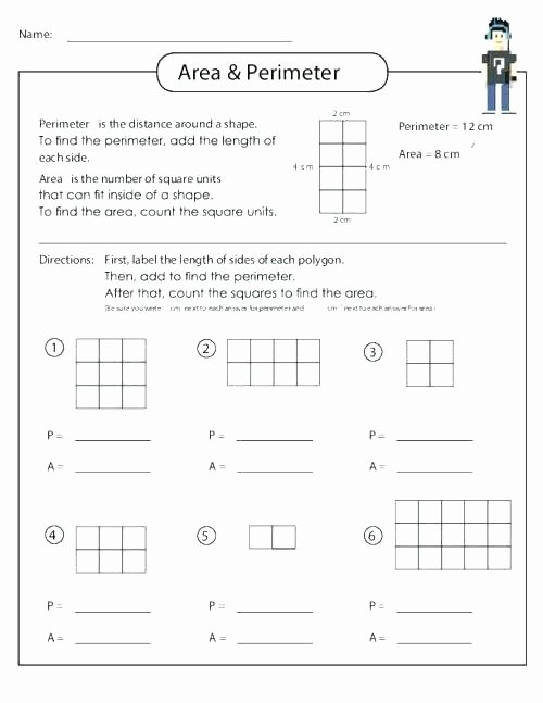 2nd Grade Perimeter Worksheets area Worksheets 3rd Grade Mon Core