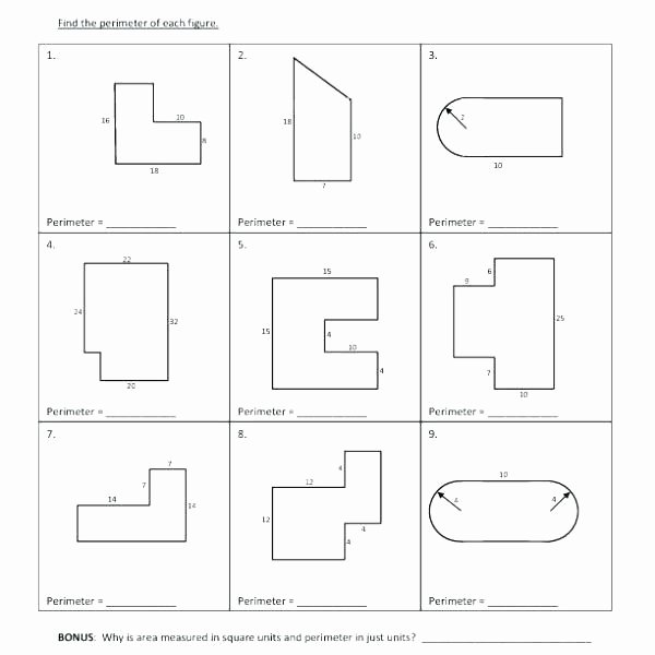 2nd Grade Perimeter Worksheets Worksheets area and Perimeter Triangles Worksheet Grade