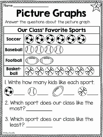 2nd Grade Pictograph Worksheets Picture Graph Worksheets 2nd Grade