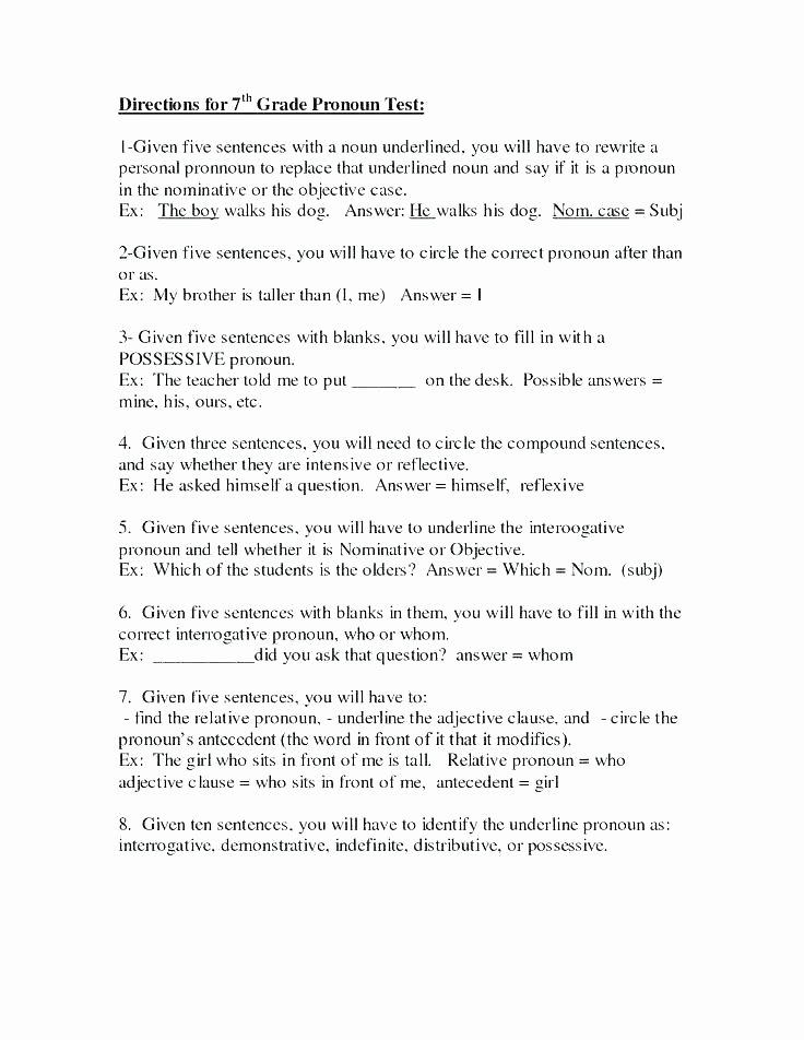 2nd Grade Pronoun Worksheets Pronouns Subject Pronoun Worksheets About This Worksheet