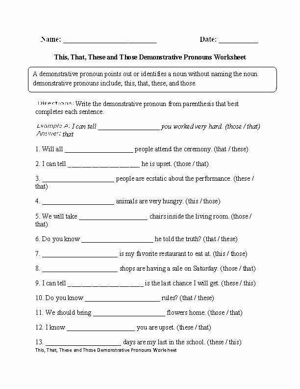 2nd Grade Pronoun Worksheets Subjective Pronoun Object Pronouns Worksheet See Inside