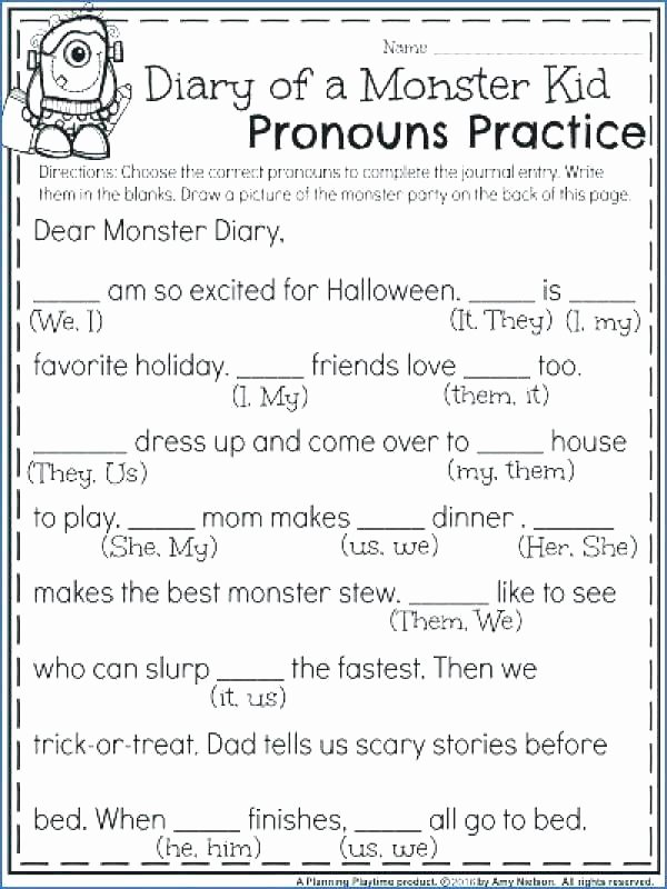 2nd Grade Pronoun Worksheets Word Usage Worksheets Grade Grammar Capitalization Page 7