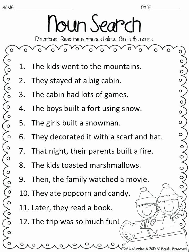 2nd Grade Proper Nouns Worksheet 2nd Grade Noun Worksheets – Petpage