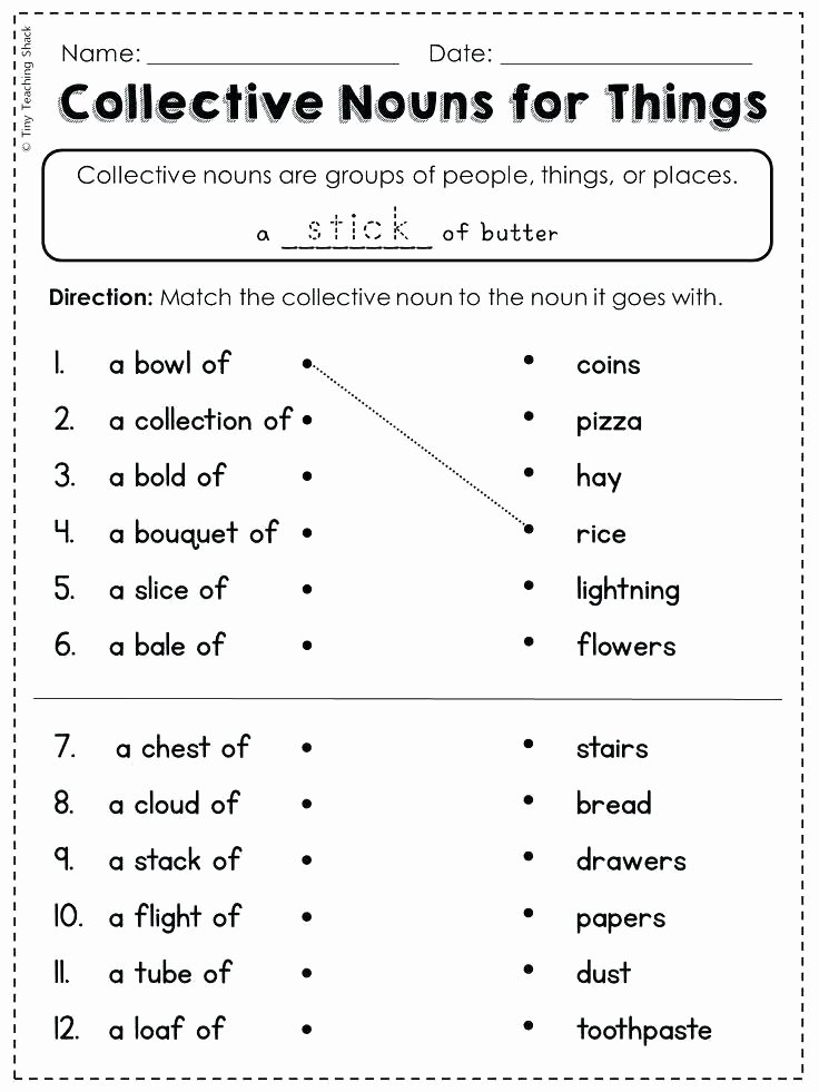 2nd Grade Proper Nouns Worksheet Math Possessive Pronouns Worksheet Writing Nouns Grade Po