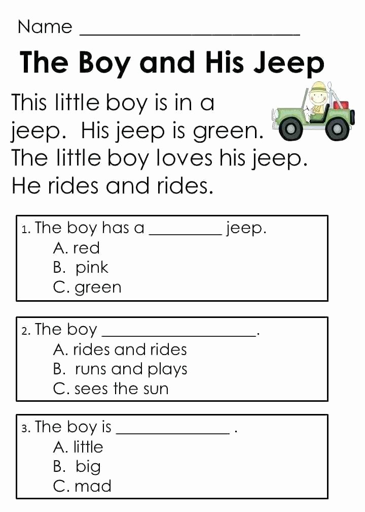 2nd Grade Reading Response Worksheets Multiple Choice Prehension Worksheets