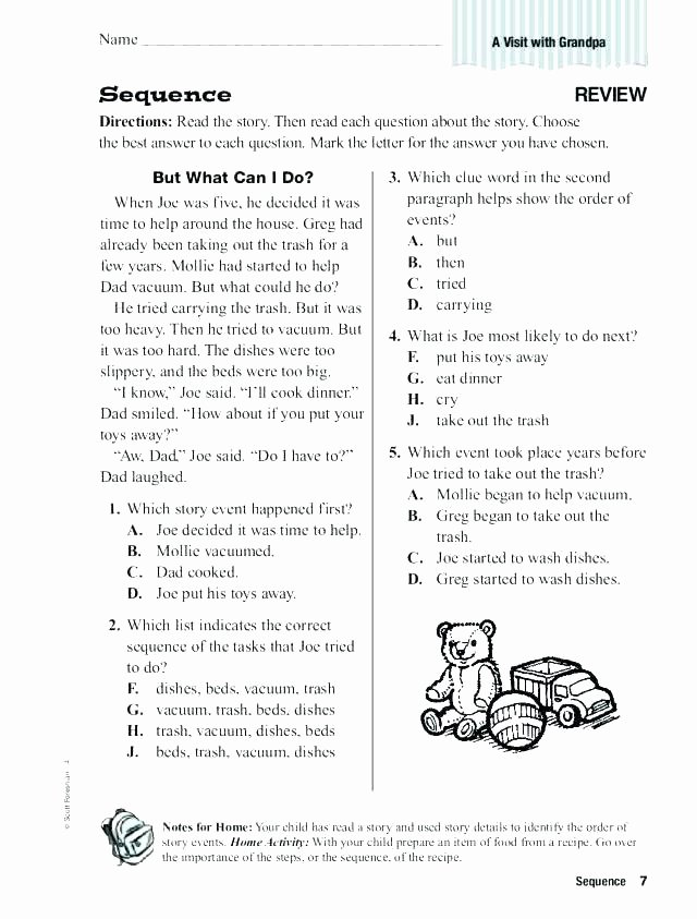 2nd Grade Sequencing Worksheets Chronological order Worksheets Sequencing Worksheets