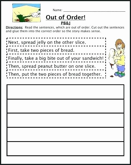 2nd Grade Sequencing Worksheets Cut and Paste Story Sequencing Worksheets Sequence