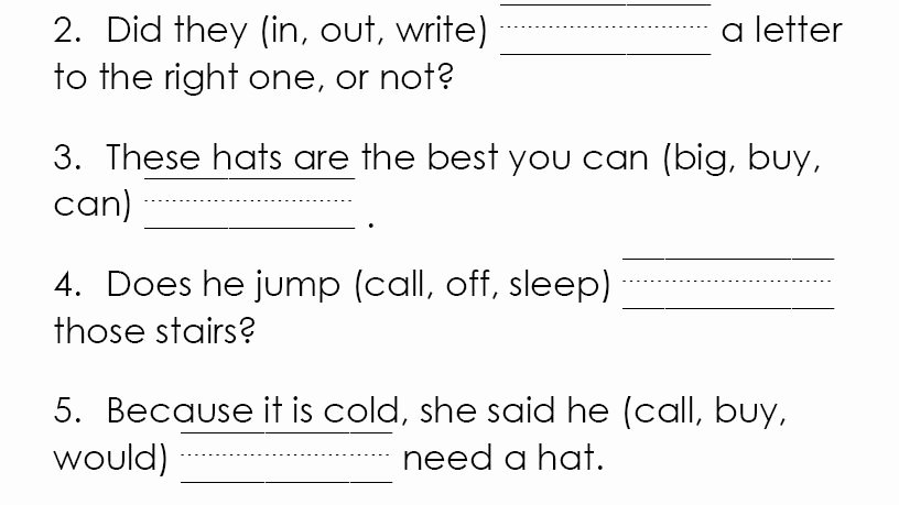 2nd Grade Sight Word Worksheets Dolch High Frequency Word Cloze Activities