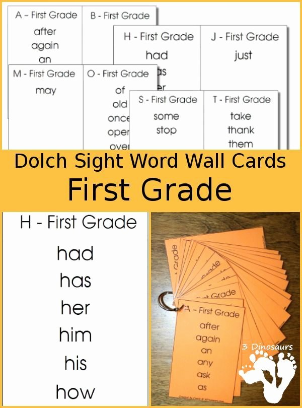 2nd Grade Sight Word Worksheets Dolch Sight Word First Grade Wall Cards