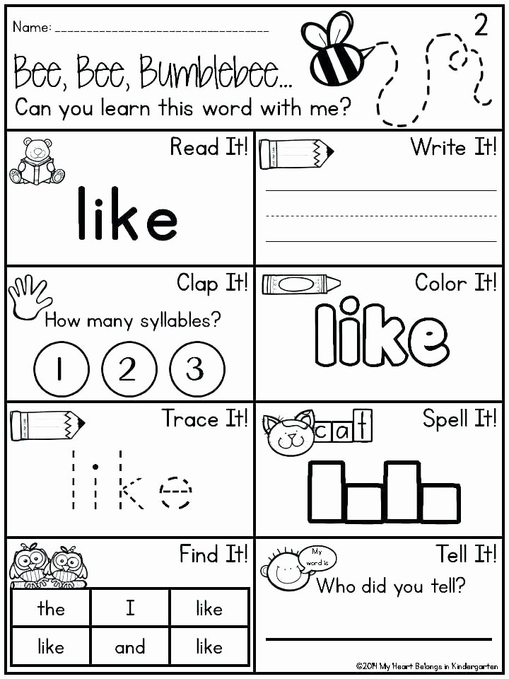 2nd Grade Sight Word Worksheets Free First Grade Sight Words Worksheets Fun for Classroom