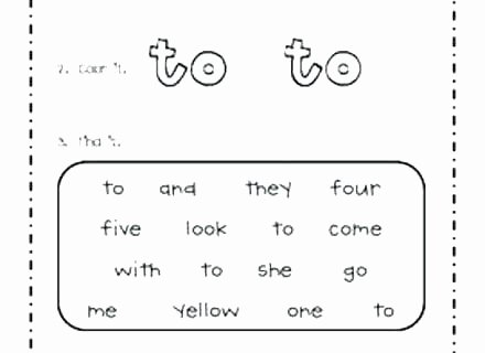 2nd Grade Sight Word Worksheets Sight Words Worksheets Preschool