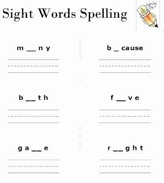 2nd Grade Spelling Worksheet Spelling Worksheets for Grade 2 1 Bee Free Printable Sight