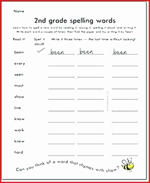 2nd Grade Spelling Worksheets Pdf Awesome Third Grade Spelling Worksheets Third Grade Ling Words