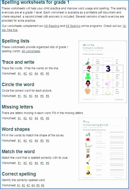 2nd Grade Spelling Worksheets Pdf Inspirational Grade E Spelling Worksheets Ts Fourth Free T Science 3rd
