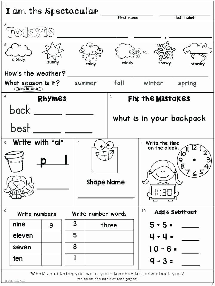 2nd Grade Weather Worksheets Kindergarten Weather Worksheet for Grade Free Worksheets