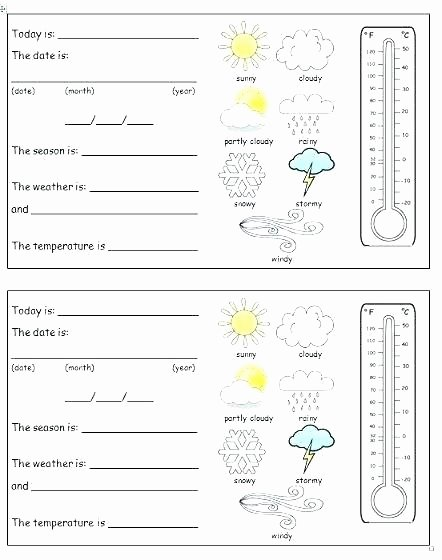 2nd Grade Weather Worksheets the Weather Elementary Worksheet Science Weather Worksheets