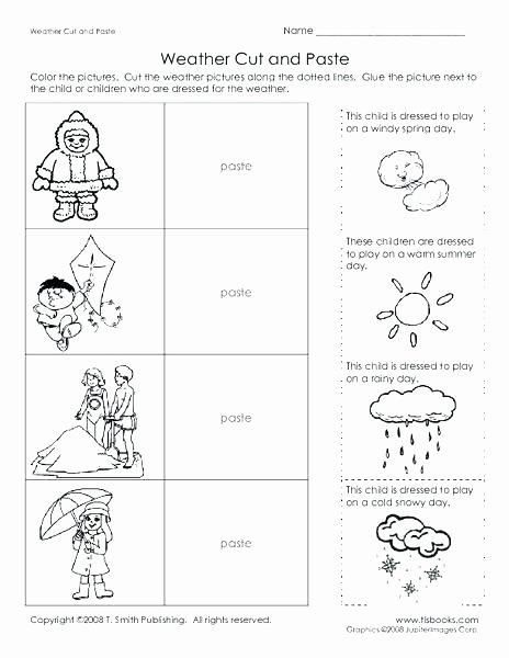 2nd Grade Weather Worksheets Weather Worksheets for First Graders Weather Worksheet