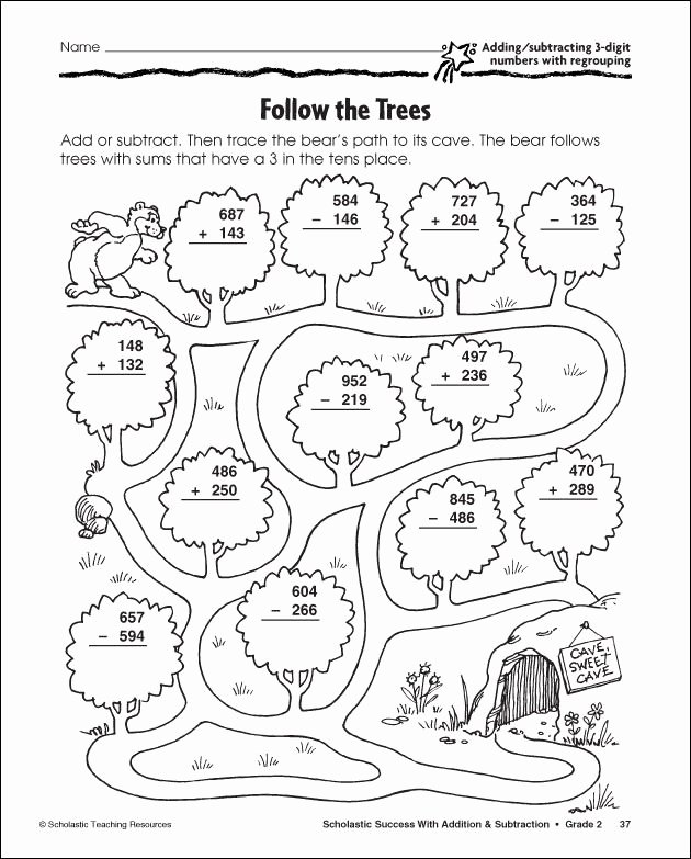 addition coloring pages 3 digit subtraction with regrouping coloring sheet