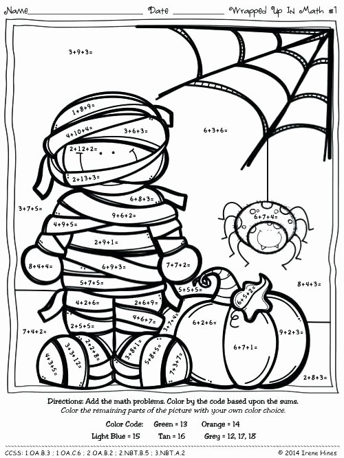 3 Digit Addition Coloring Worksheets Multiplication Coloring Puzzles Color by Number Codes