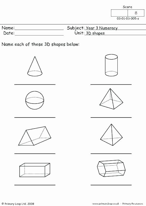 3 Dimensional Figures Worksheets Grade Geometry Worksheets 3 D Shapes 2d and 3d 7 Free