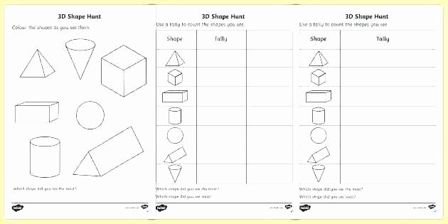 3 Dimensional Figures Worksheets Printable Worksheets Shapes Grade N Name the Shape Year 2