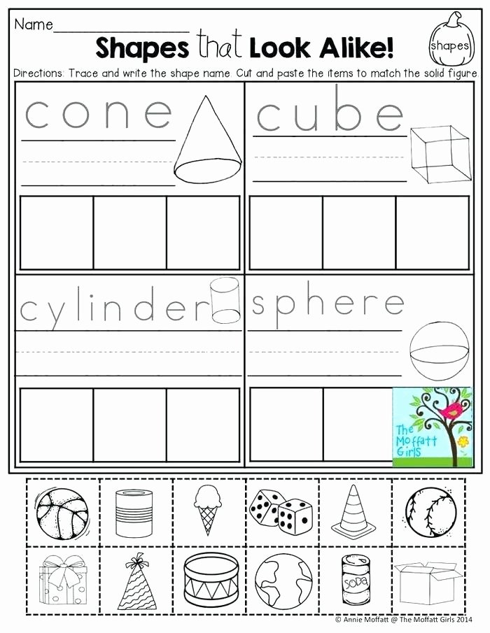 3 Dimensional Figures Worksheets Three Dimensional Shapes Worksheets 3 Figures Congruent