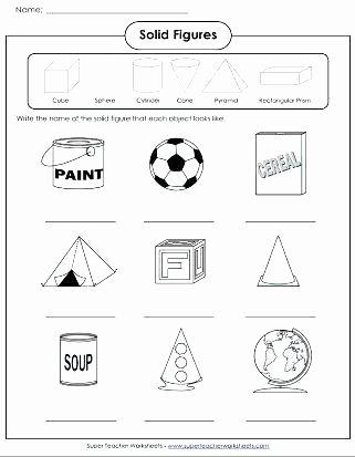 3 Dimensional Shapes Worksheet Geometric Shapes Worksheets for Kindergarten