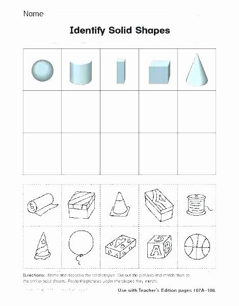 3 Dimensional Shapes Worksheet Kindergarten 3 Dimensional Shapes Worksheets