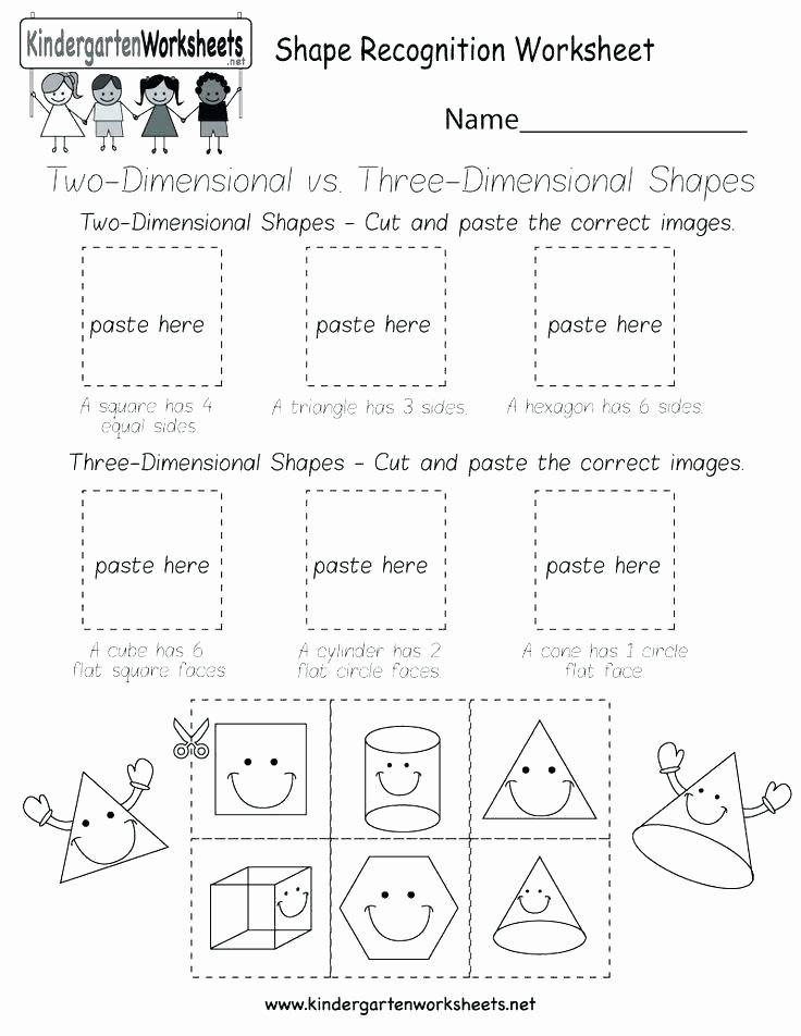 3 Dimensional Shapes Worksheet Two and Three Dimensional Shapes Worksheets