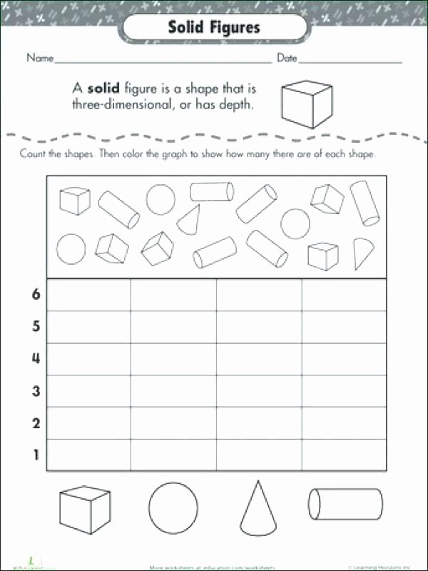3 Dimensional Shapes Worksheet Two Dimensional Shapes Worksheets Shape Dimensions solid