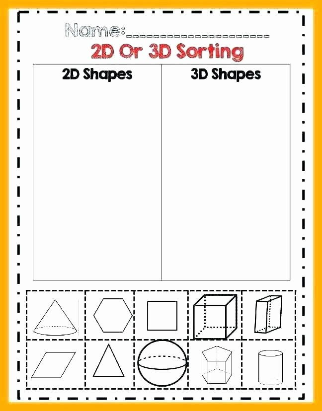 3 Dimensional Shapes Worksheets 3 Dimensional Figures Worksheets Shapes Grade 1 Shape