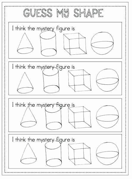 3 Dimensional Shapes Worksheets Two Dimensional Shapes Worksheets