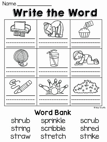 3 Letter Blends Worksheets 3 Letter Blends Worksheets – Newstalkfo