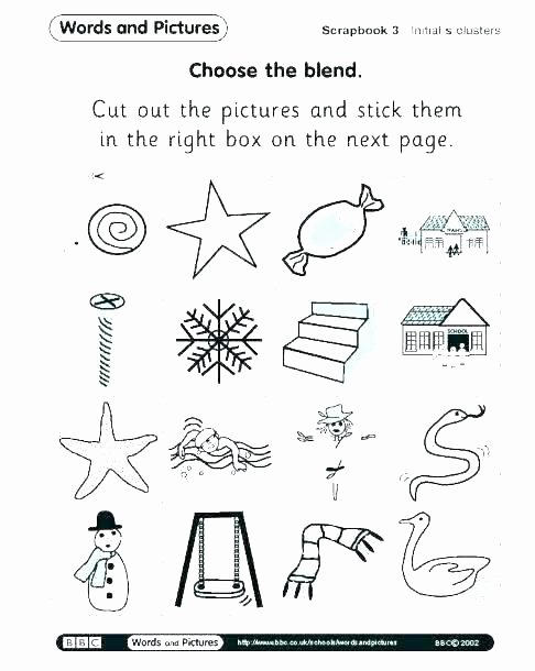 3 Letter Blends Worksheets Consonant Blends Worksheets for Grade 1