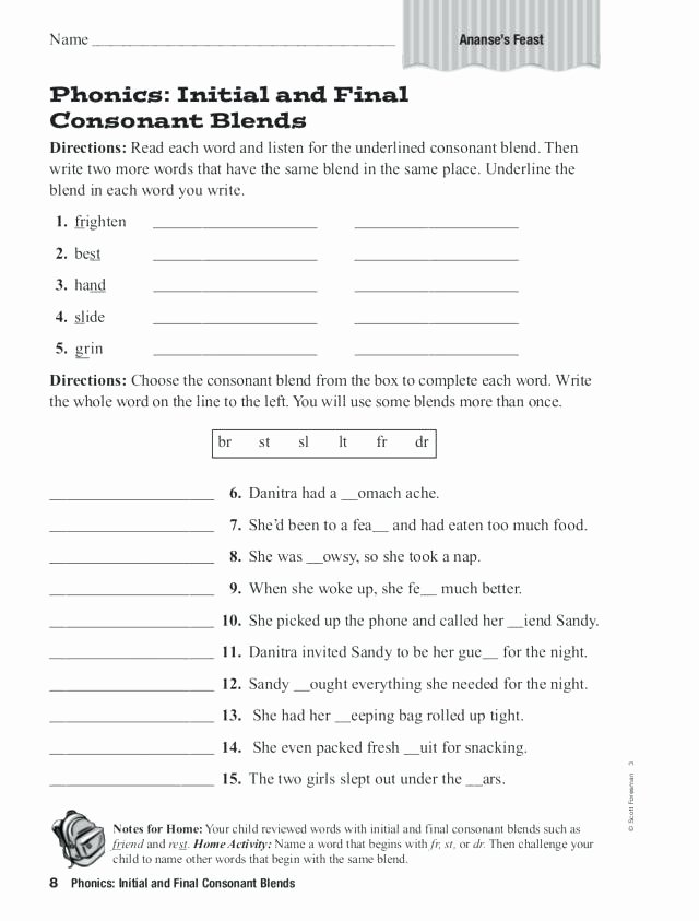 3 Letter Blends Worksheets Triple Consonant Blends Worksheets