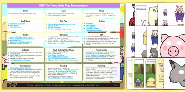 3 Little Pigs Worksheets Eyfs the Three Little Pigs Enhancement Ideas and Resources
