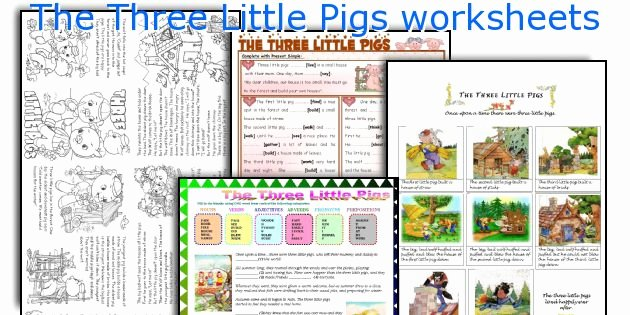 3 Little Pigs Worksheets the Three Little Pigs Worksheets