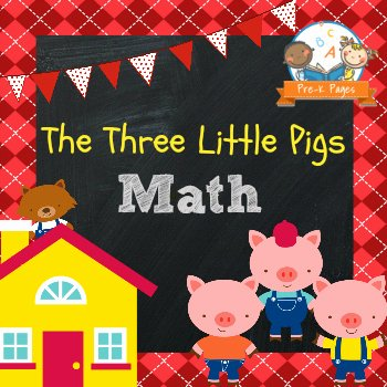 3 Little Pigs Worksheets Three Little Pigs Math Activities & Worksheets