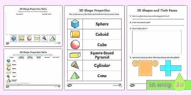 3d Shapes Worksheet for Kindergarten Geometry 3d Shapes Worksheets